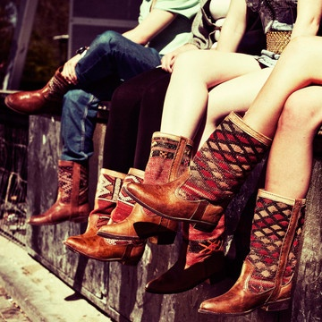 RAD Kilim Rug Boots!  I'm totally going to get some for fall. 31% off: Cowgirl Boots, Shoes, Cobra Society, Fashion, Rugs Boots, Style, Cowboys Boots, Kiboot