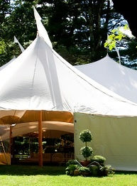 Luxury marquee entrance