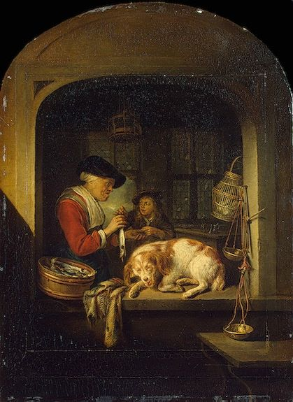The Herring Seller, by Gerrit Dou