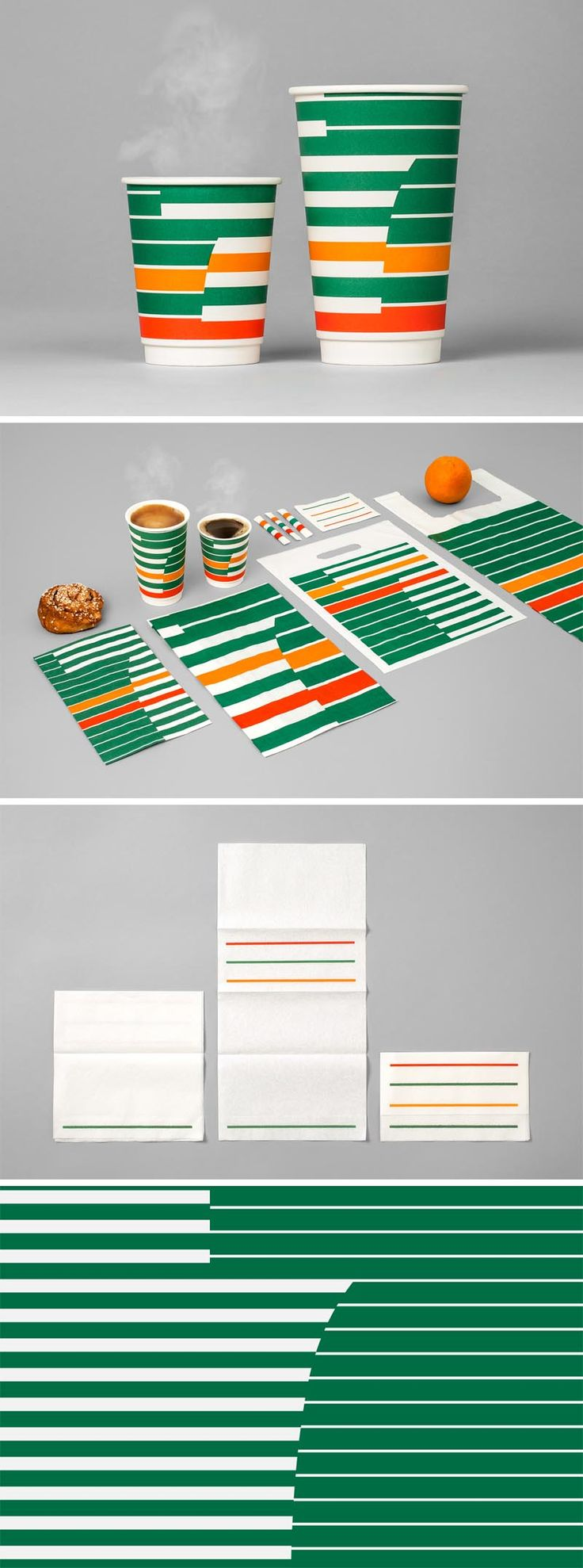 7-Eleven, 7Eleven, Rebrand of 7-eleven in Sweden by BVD, logos, corporate identity rebranding