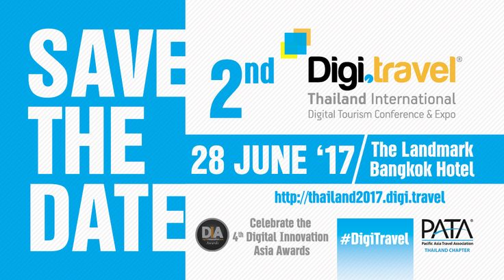 One more great conference about the digital technologies in tourism marketing and distribution is organized for the 2nd year in Thailand from Travel Media Applications in co-operation with PATA Thailand Chapter. Join us!
