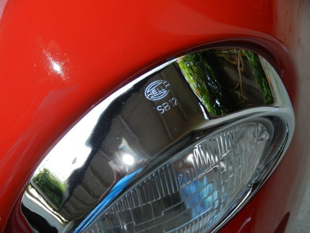 vw beetle hella headlight  | ... extremely rare original SB12 Hella headlight rings remain in place