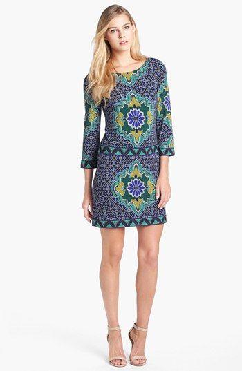 Laundry by Shelli Segal Print Jersey Shift Dress | Nordstrom