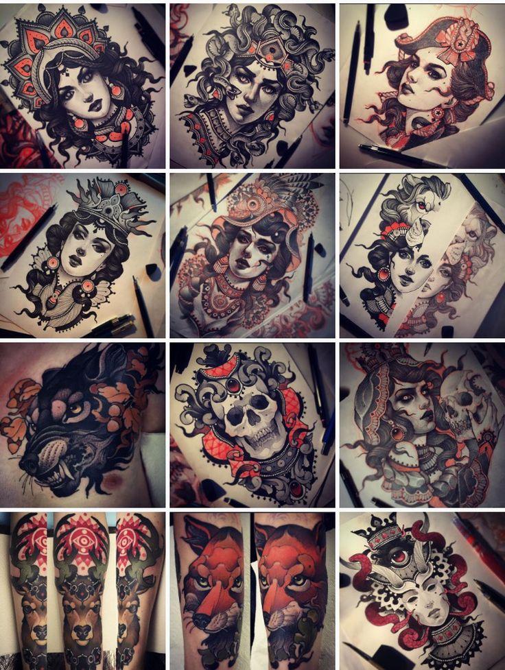 Vitally Morozov- neo traditional tattoos