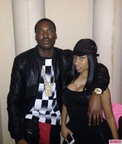 Nicki Minaj Gets a Kiss From Rumored Boyfriend Meek Mill: See the Photo