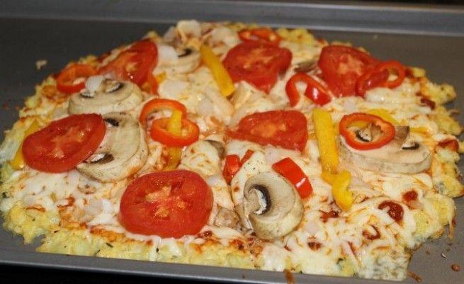 Blumenkohl-Krusten-Pizza-Rezept   – Healthy Recipes