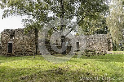 Fragment of the defensive castle in Nowy Sącz , Poland.