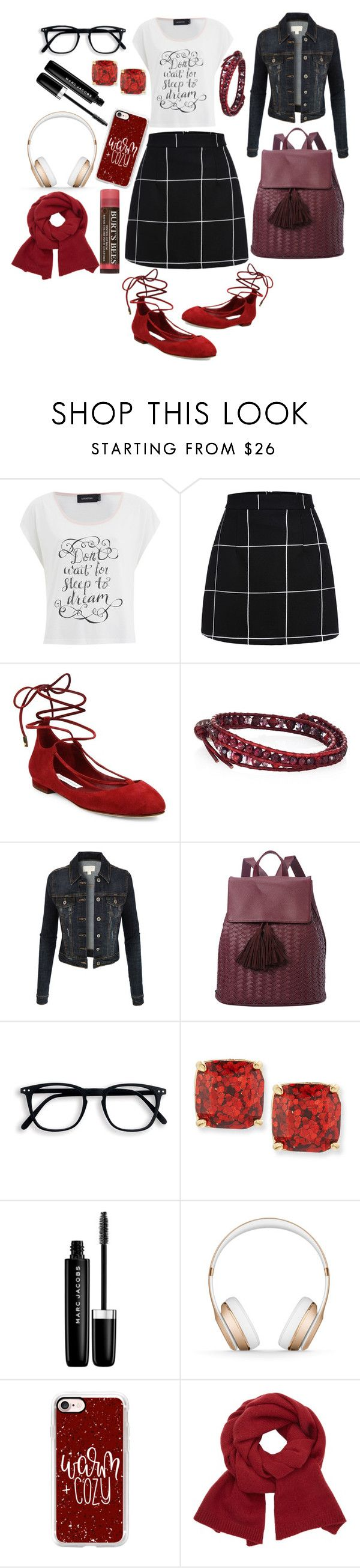 """""""School's out for the holidays"""" by pulseofthematter ❤ liked on Polyvore featuring MINKPINK, Diane Von Furstenberg, Chan Luu, LE3NO, Deux Lux, Kate Spade, Marc Jacobs, Beats by Dr. Dre, Casetify and John Lewis"""