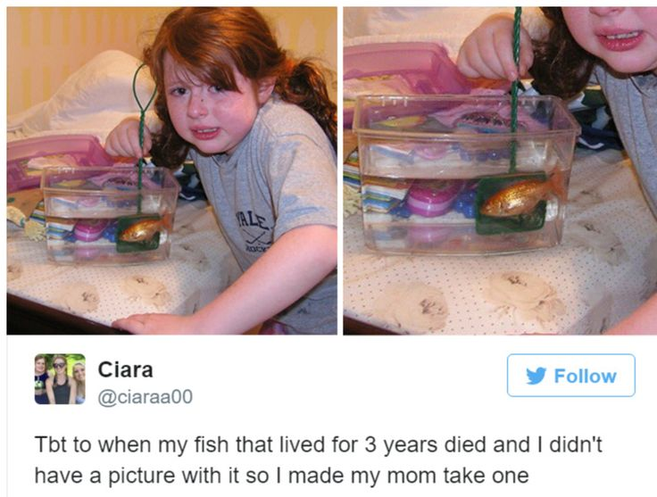 The little girl who poses with dead fish: