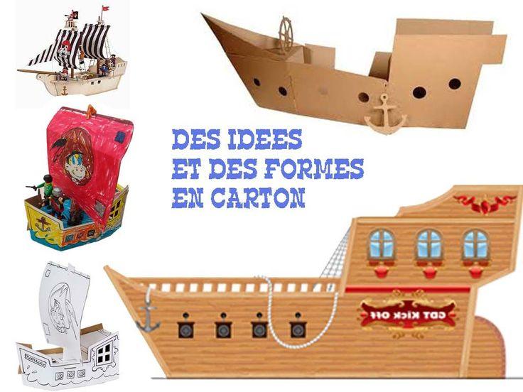 Les 25 meilleures id es de la cat gorie bateaux de pirates en carton sur pinterest embarcation - Fabriquer un bateau en papier ...