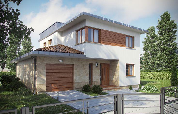 DOM.PL™ - Projekt domu ARX D87A CE - DOM RX4-90 - gotowy projekt domu