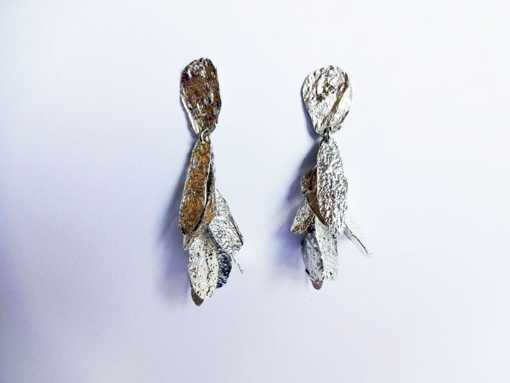 And all the leaves of the trees are falling ....  #silver #handmade #earrings #leaves #jewelry www.facebook.com/gioiellifenzl