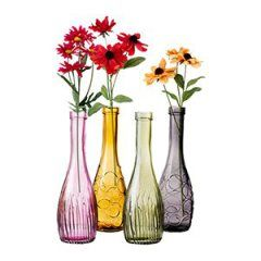 Can you believe these cute colorful vases cost just $2.99 each at Ikea?!
