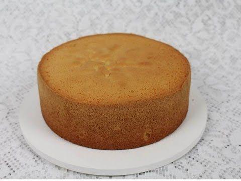 Como fazer massa de Pão de ló #26, massa base para bolos de aniversário #26 - YouTube
