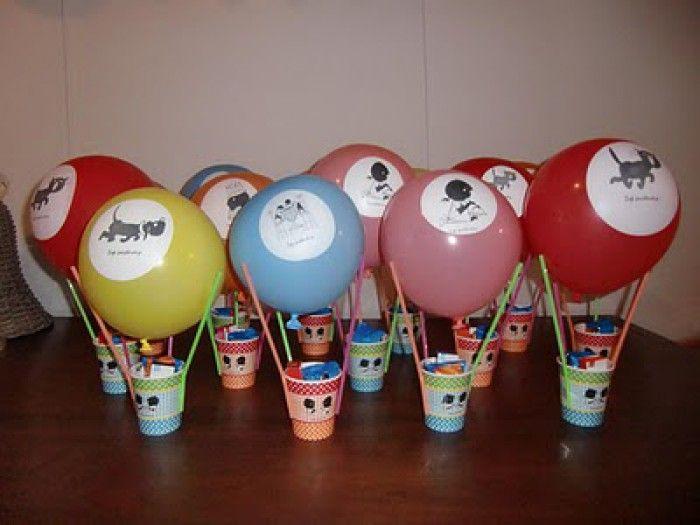luchtballon met snoep