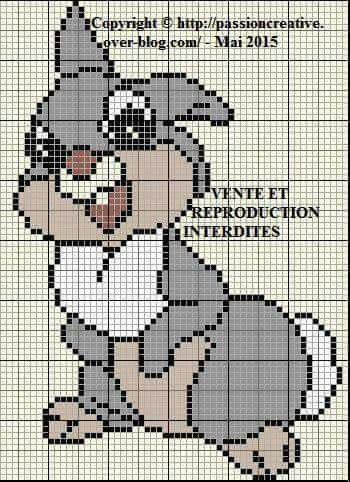 Disney Thumper cross stitch.