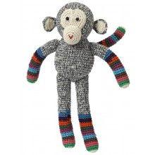 Anne-Claire Petit  // Gehaakte aap, Anne-Claire Petit, 30 cm