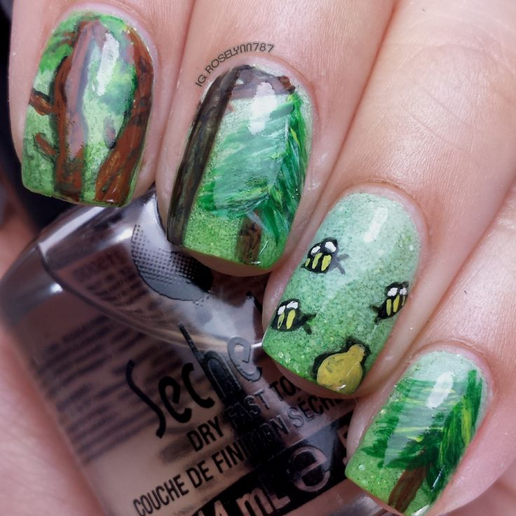 853 best Nail Art - Flowers and Nature images on Pinterest | Nail ...