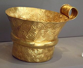 Archaeological Museum, Athens - Gold cup from Mycenae. Triskelion - Wikipedia, the free encyclopedia