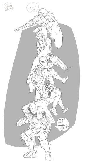 """philosophicalbutts: """" Fire team totem v1.2 Fireteam for @destinyweek """""""