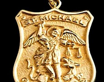 9 best medal of st michael archangel images on pinterest saint st michael medal sterling silver archangel patron saint of mozeypictures Gallery