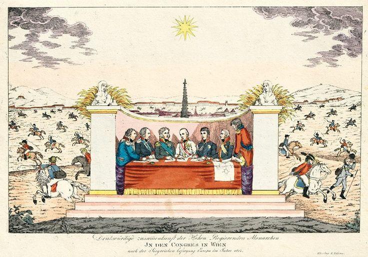 Unbekannter Künstler, Die Zusammenkunft der Monarchen beim Wiener Kongress, 1815, © Wien Museum