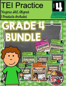 NEW PRODUCT...HALF OFF FOR 24 HOURSVIRGINIA SOL MATH TEI PRACTICE PRODUCTS BUNDLEIncludes 8 different productsThis BUNDLE includes 8 different products designed to provide practice for the TECHNOLOGY ENHANCED ITEMS that are a part of the Virginia SOL Math Test.