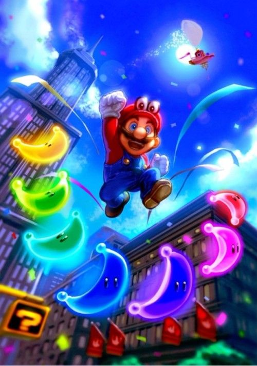 Super Mario Odyssey!! | Mario art | Super mario, Super mario, luigi