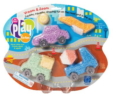 Educational Insights Vehicles PlayFoam, Pack of 8 - CLASSROOM DIRECT