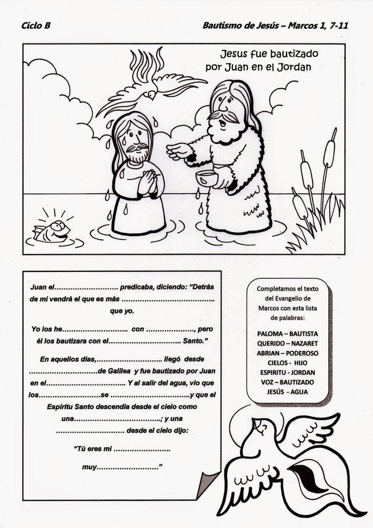El Rincón de las Melli: Bautismo de Jesús - CICLO B