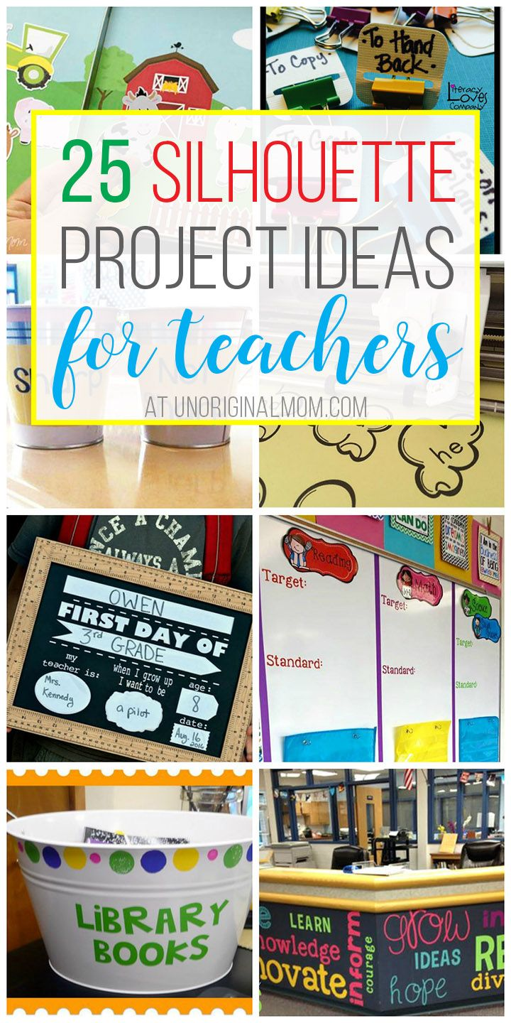 Great ideas for how to use your Silhouette or Cricut for your classroom! I want to try them all! | Silhouette CAMEO | Silhouette Portrait | Silhouette projects for teachers | vinyl projects for classrooms | classroom decor | classroom organization
