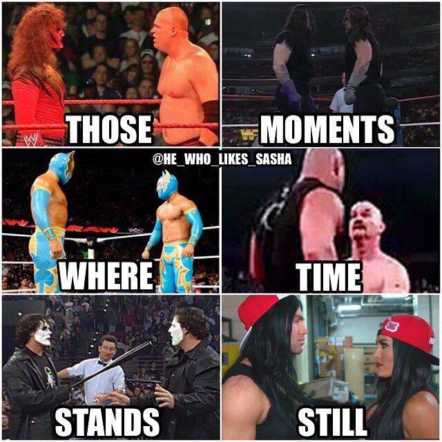 Moments in history where wrestlers have encountered parodies of themselves . #wwe #wwememe #wwememes #kane #undertaker #theundertaker #sincara #goldberg #brocklesnar #sting #worldchampionshipwrestling #nikkibella #tylerbreeze #wrestler #wrestling #wwefunny #romanreigns #wrestling #prowrestling #wwesuperstars #professionalwrestling #worldwrestlingentertainment #wwf #wweuniverse #wwenetwork #raw #smackdown #nxt #wweraw #smackdownlive #sdlive