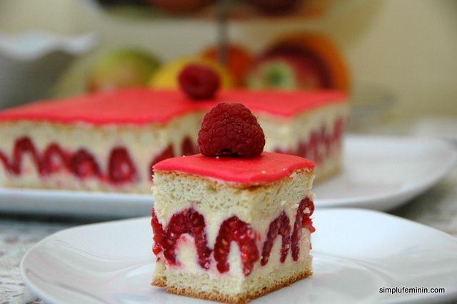Tort cu zmeura - Framboisier | Simplu Feminin