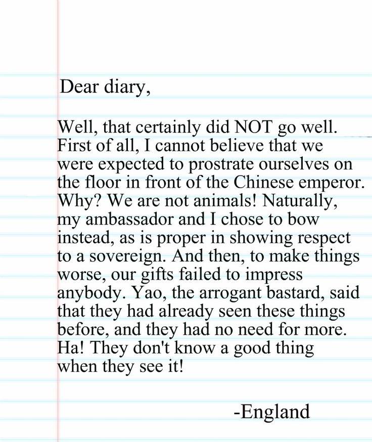 Dear diary essay