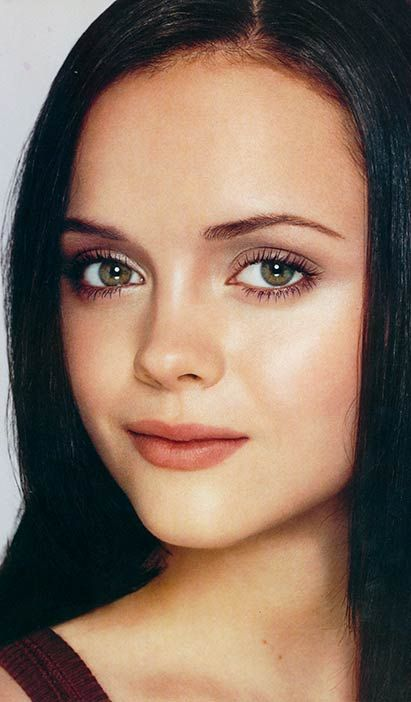 love the natural look Christina Ricci has. makeup by Kevyn Aucoin