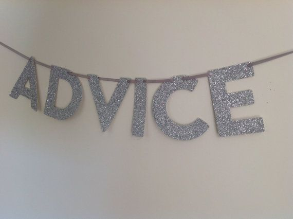 ADVICE Glitter Mini Banner for party wedding by CreativePapier, $12.00