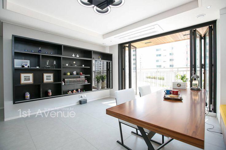 30평대 아파트에 어울리는 포인트 인테리어  거실, 아파트 및 ...