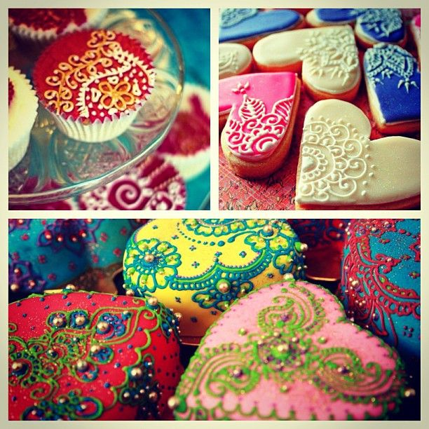 Mehndi cookies and cakes