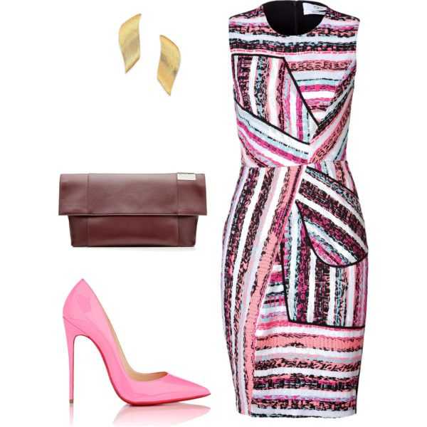style theory by Helia  by heliaamado on Polyvore featuring mode, Prabal Gurung, Christian Louboutin, Victoria Beckham and Stephanie Kantis