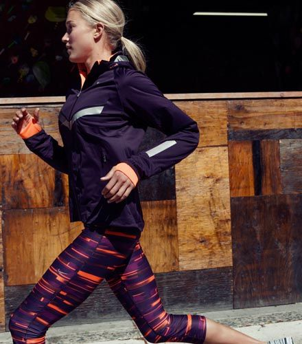 I'm sure these will add speed (not just style) to my runs.  [Nike Store. FALL LOOK: RELAY PRINT CAPRI]