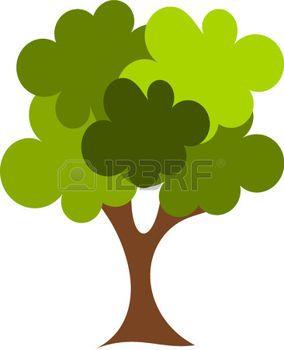 tree life: Illustrazione della grande quercia verde
