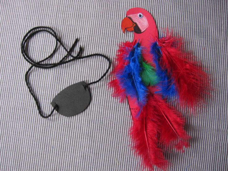 Kid--->Pirate! Eye patch + Parrot = Instant Pirate! Celebrate Talk Like A Pirate Day with 2 easy pirate crafts for kids