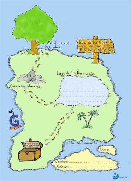 MAPA DEL TESORO. Caja de las palabras mágicas