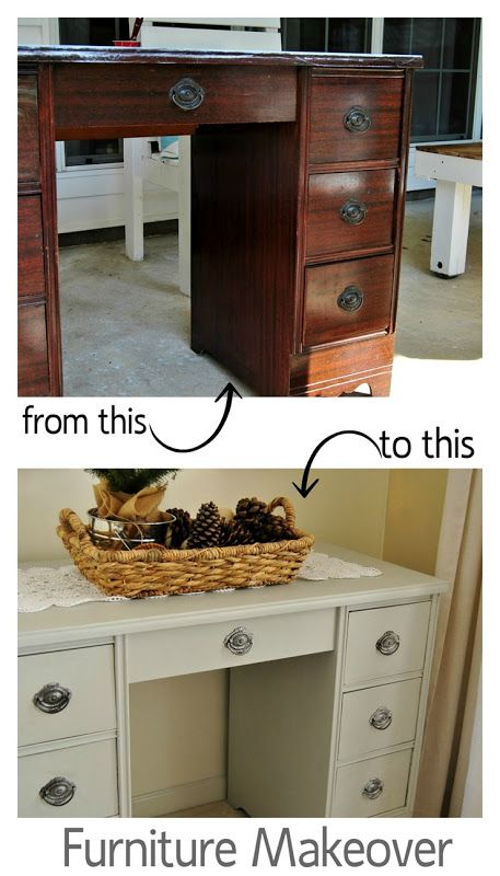 Laminate Desk Makeover | make | Pinterest | Desk makeover ...