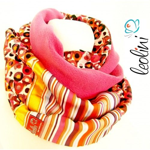 LOOP Scarf, Silk and Fleece, handcrafted by Leolini
