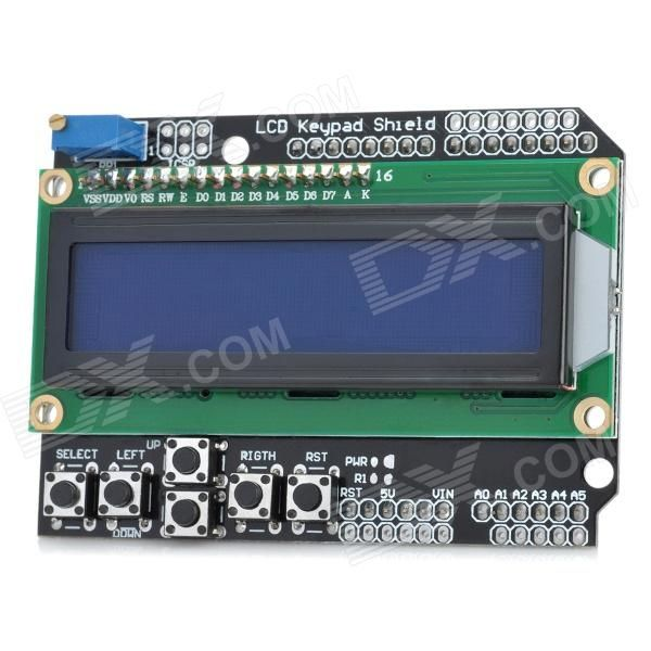 2. LCD Keypad Shield for Arduino Duemilanove & LCD 1602