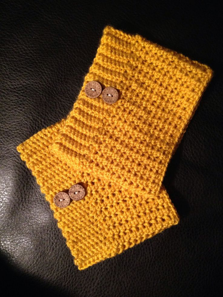 Brooklyn Boot Cuffs Free Crochet Pattern : Boot cuffs I made from this pattern :) http ...