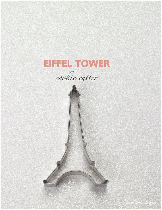 Eiffel Tower Cookie Cutter by PoshLittleDesigns on Etsy, $2.00