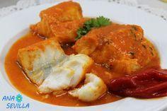 Bacalao en salsa de piquillos con Thermomix Ana Sevilla