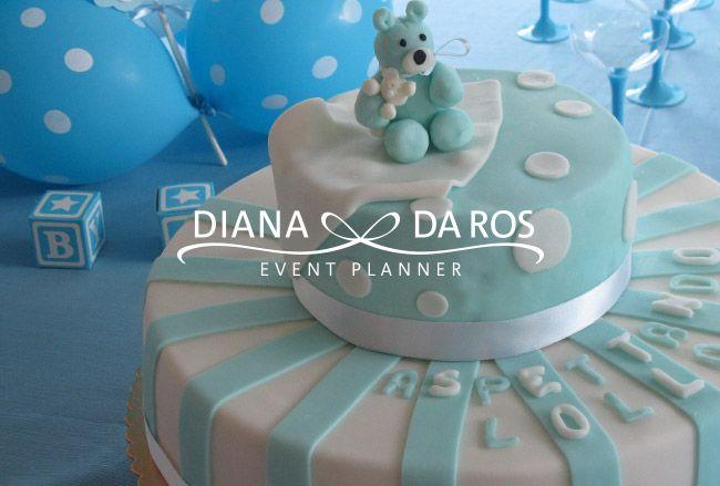 torta-babyshower-boy-orsetto - Babyshower Party teddybear babyblue cake